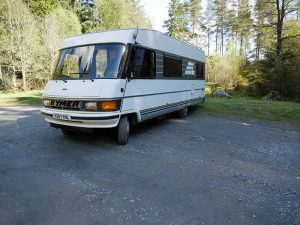 Motorhome on Forest drive
