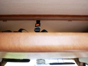 Bed over cab in hymer