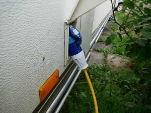 Electric Hook Up connected to motorhome